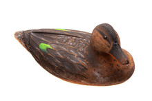 Mallard Duck Decoy Isolated On White
