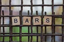 Word Bars  Made Of Wooden Lett...
