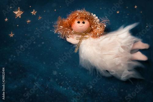 Christmas angel flying - 298525414