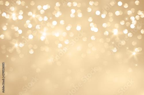 Fotografie, Obraz Elegant gold bokeh background