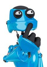 Robot Cartoon Worried