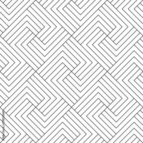Fototapeten Künstlich Vector geometric seamless pattern. Modern geometric background. Lattice with squares from stripes.