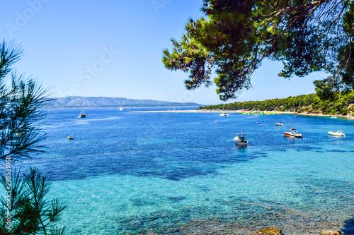 Zlatni Rat beach (Golden Horn), Bol city, Brac island, Croatia. Obraz na płótnie