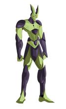 Evil Green Anime Monster Villain