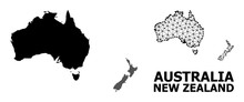 Solid And Network Map Of Australia And New Zealand