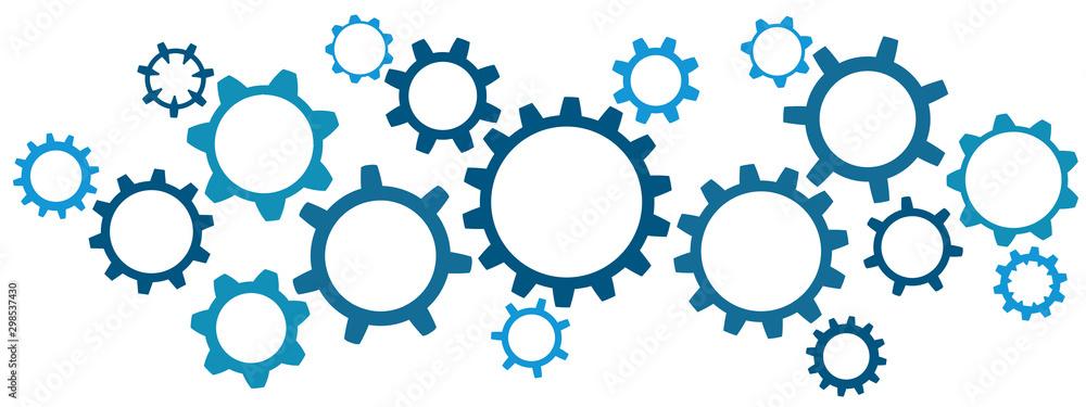 Fototapeta Related group gears design, concept teamwork - stock vector