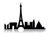 Fototapeta Fototapety z wieżą Eiffla - Paris city silhouette - stock vector