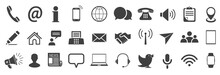 Set Grey Contact Icons, Commun...