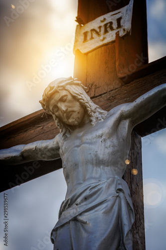 Vászonkép  Statue of Jesus Christ on the cross