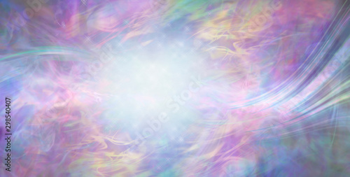 Beautiful Dreamy Magical Energy Background - multicoloured ethereal gaseous flowing surreal background