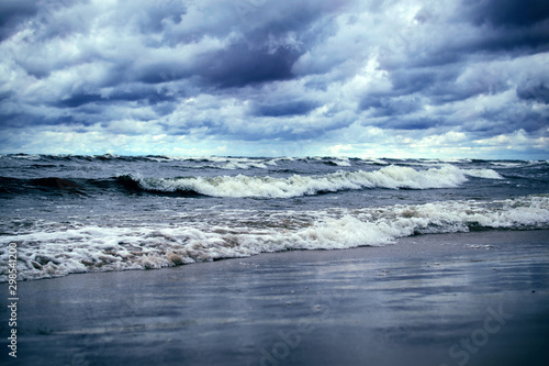 Stormy day at baltic sea