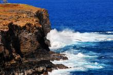 Eroding Land On Big Island