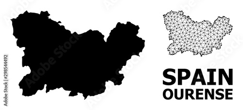 Solid and Network Map of Ourense Province