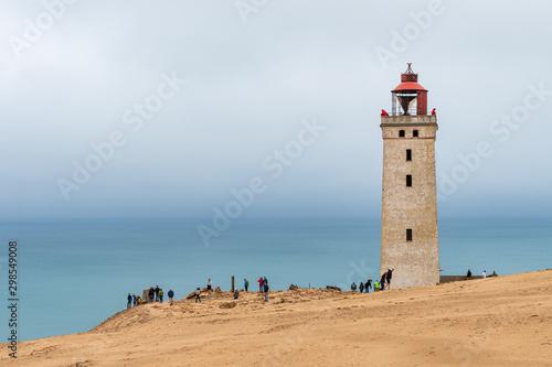 Obraz na plátně Rubjerg Knude lighthouse in Denmark at the North Sea