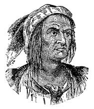 Tecumseh, Vintage Illustration