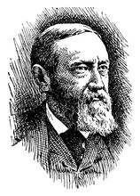 Benjamin Harrison, Vintage Illustration