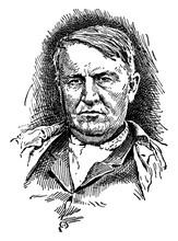 Thomas Alva Edison, Vintage Il...
