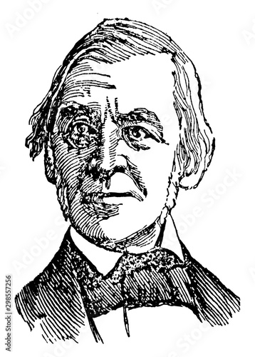 Canvas Print Ralph Waldo Emerson, vintage illustration