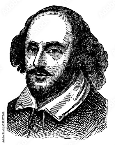 Obraz na plátně  William Shakespeare, vintage illustration