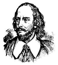 William Shakespeare, Vintage Illustration