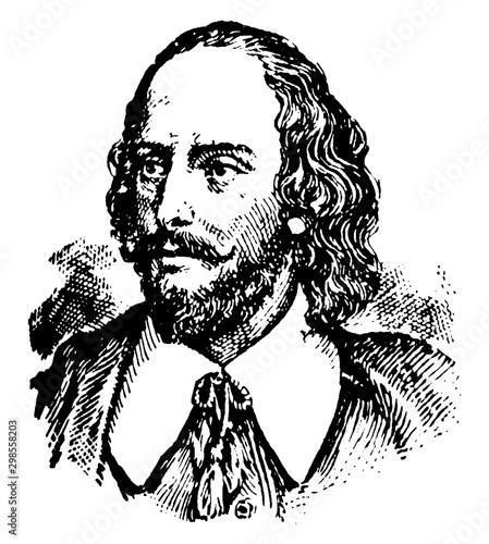 Fotografie, Obraz  William Shakespeare, vintage illustration
