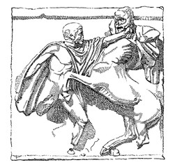 Fototapeta na wymiar Lapith vintage illustration.