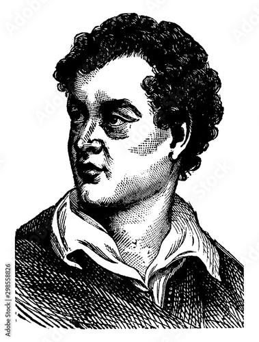 Tableau sur Toile Lord George Gordon Byron, vintage illustration