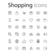 Thin line icons set shopping, e-commerce collection outline web. Vector illustration eps10.