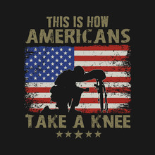 Americans Take A Knee Illustration Vector