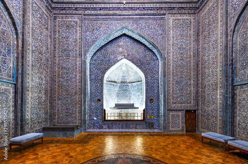 Autocollant pour porte Con. Antique Pahlavan-Mahmud Mausoleum - Khiva, Uzbekistan