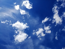 Sky Clouds Background. Small C...