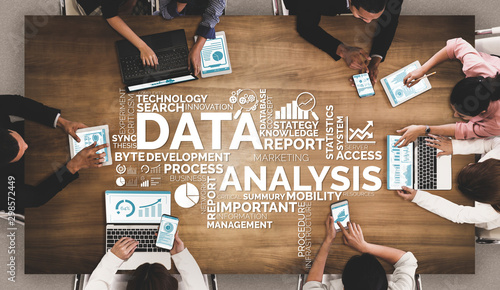 Leinwand Poster Data Analysis for Business and Finance Concept