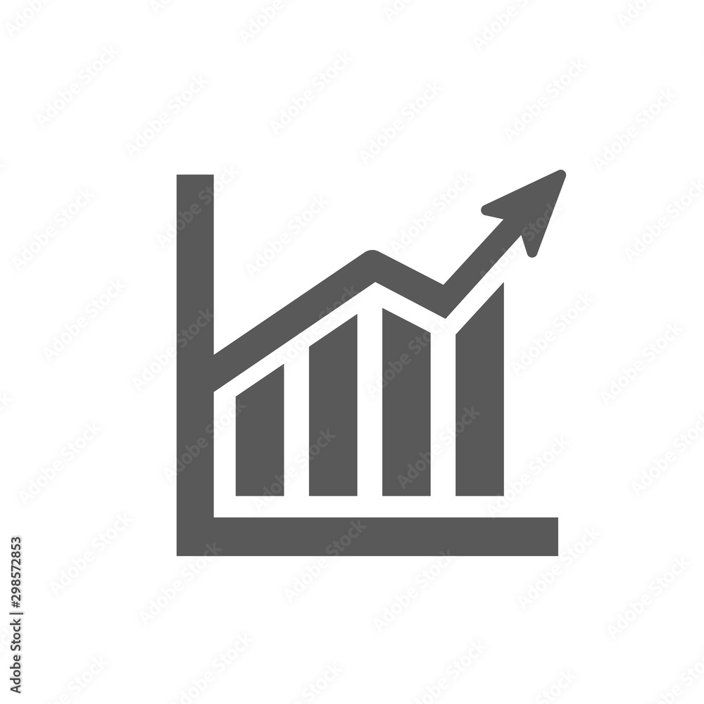 Fototapety, obrazy: Statistics Icon vector isolated on white background. Graph symbol for your design, logo, application, presentation, UI