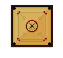 Carrom Board Game Vector Illus...