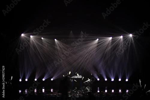 rays of light illuminate the scene - 298577629