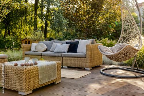Obraz Porch with wooden floor - fototapety do salonu