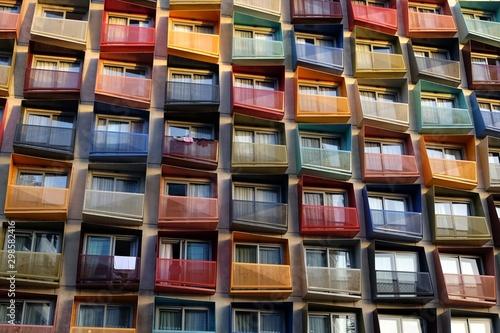 Fototapeta geometric and colorful palace balconies obraz