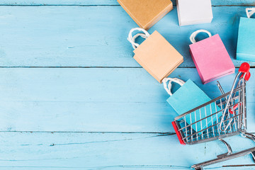 shopping online at home concept.online shopping is a form of electronic commerce that allows consumers to directly buy goods from a seller over internet