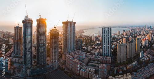 Fototapeta premium Mumbai panorama z lotu ptaka.