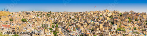 Panorama of Amman by Daylight Canvas Print
