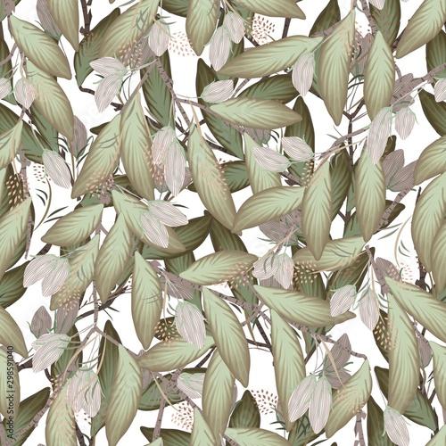 niesamowite-klasyczne-galezie-lisciaste-z-zielona-i-sucha-ilustracja-bezszwowego-wzoru-typu-botanicznego