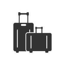 Travel Bag Icon In Flat Style....
