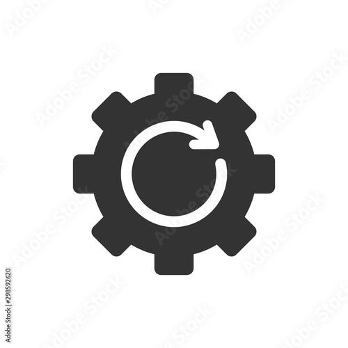 Cuadros en Lienzo Recovery gear icon in flat style
