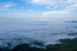 Landscape of Morning Mist with Mountain Layer.