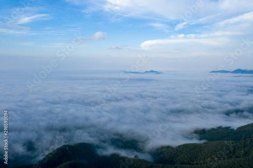 Fototapeta Landscape of Morning Mist with Mountain Layer. obraz na płótnie