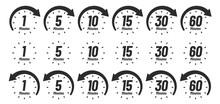 Minutes Time Icon. Analog Cloc...