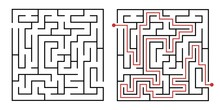 Labyrinth Game Way. Square Maz...