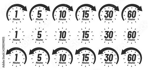 Cuadros en Lienzo  Minutes time icon