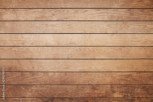 Obraz Brown painted natural wood with grains for background and texture - fototapety do salonu