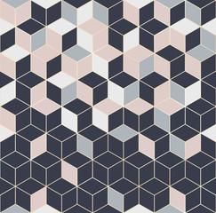 Panel Szklany Podświetlane Wzory geometryczne Vector seamless hexagon background. Geometric pattern grid with gold lines